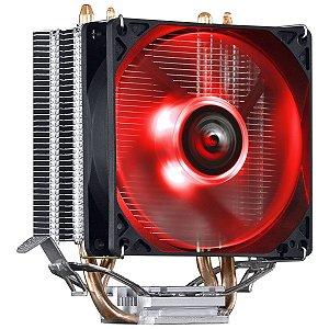 COOLER PARA PROCESSADOR PCYES KZ2 LED VERMELHO (INTEL/AMD) 92MM