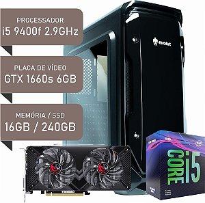 COMPUTADOR I5 9400F / GTX 1660 SUPER 6GB / 16GB DDR4 / SSD 240GB