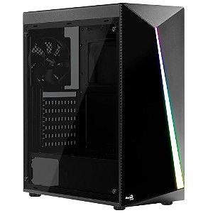 GABINETE AEROCOOL RGB SHARD COM 1 FAN