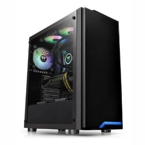 GABINETE GAMER THERMALTAKE H100 TG  VIDRO LATERAL 1 FAN