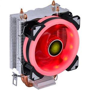 COOLER PARA PROCESSADOR VINIK VX GAMING BLITZAR 90MM LED VERMELHO AMD/INTEL