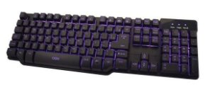 TECLADO SEMI MECANICO OEX GAME DESTROYER LED TC299