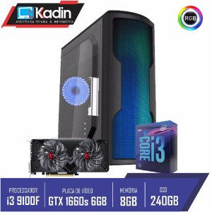 COMPUTADOR PC GAMER I3 9100F / GTX1660 SUPER 6GB /  8GB DDR4 / SSD 240GB / 500W