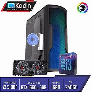 COMPUTADOR PC GAMER I3 9100F / GTX1660 SUPER 6GB / 16GB DDR4 / SSD 240GB / 500W