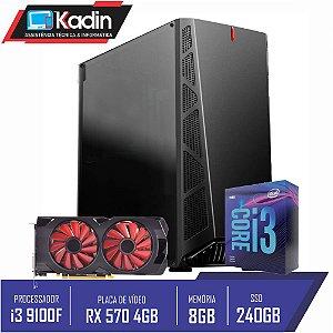 COMPUTADOR KADIN i3 9100F / RX 570 4GB / 8GB DDR4 / SSD 240GB / 500W / DANDY