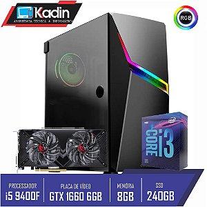 COMPUTADOR KADIN i3 9100F / GTX 1660 6GB / 8GB DDR4 / SSD 240GB / 500W / ASHE