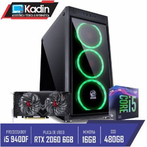 COMPUTADOR KADIN I5 9400F / RTX 2060 6GB / 16GB DDR4 / SSD 480GB / 650W / JUPITER