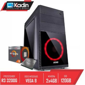 COMPUTADOR KADIN RYZEN 3 3200G / 8GB DDR4 / SSD 120GB / 500W / SHIN