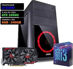 COMPUTADOR KADIN i3 9100F / GTX 1050TI 4GB / 8GB DDR4 / SSD 240GB / 500W / SHIN