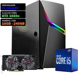 COMPUTADOR KADIN GAMER I5 10400F / GTX 1660 SUPER 6GB / 16GB DDR4 / SSD 240GB / 550W 80+ / ASHE