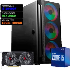 COMPUTADOR KADIN GAMER I5 10400F / RTX 2060 6GB / 16GB DDR4 / SSD 480GB / 550W 80+ / MESH
