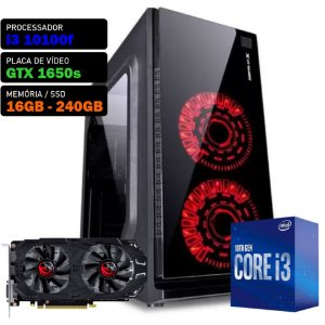 COMPUTADOR KADIN GAMER I3 10100F / GTX 1650 SUPER / 16GB / SSD 240GB / 500W / CREATER