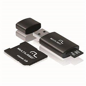 CARTAO DE MEMORIA SD MULTILASER 3X1 16GB CLASSE 10, PENDRIVE,  ADAPTADOR SD, MC112