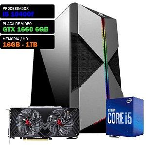 COMPUTADOR SKUL GAMER I5 10400F 2.9GHZ, GTX 1660 6GB, 16GB DDR4, HD 1TB, 550W