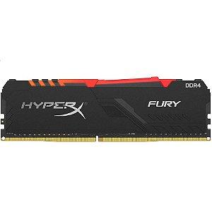 MEMORIA HYPERX FURY DDR4 8GB RGB 2666