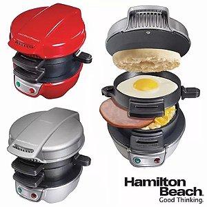 Sanduicheira E Grill Multi Uso Hamilton Beach 2 Em 1 Premium