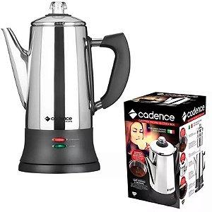 Cafeteira Elétrica Italiana Inox Moka 1000w Cadence 1,7l