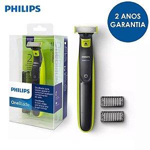 Oneblade Barbeador Aparador Philips Qp2521/10 Seco E Molhado