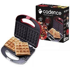 Máquina De Waffle Belga Crocante Cadence Antiaderente 750w