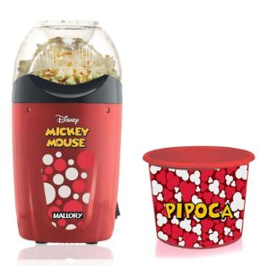 Pipoqueira Elétrica Disney Mickey Mallory + Balde Pipoca
