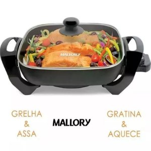 Grill Panela Elétrica Mallory Gourmet Multifuncional 1200w