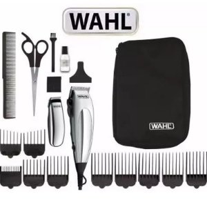 Kit Wahl Máquina De Cortar Cabelo Barba Deluxe Home Pro Novo