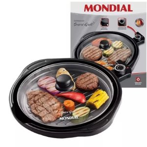 Panela Elétrica Grill Mondial Redondo Smart Grill G04 Teflon