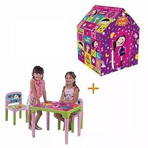 Show Da Luna Mesa Infantil Com 2 Cadeiras + Barraca Cabana