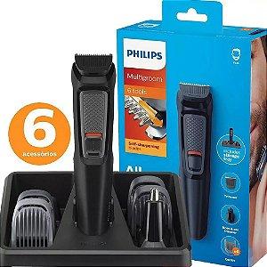 Aparador De Pelos E Barbeador Philips Multigroom 6 Em 1