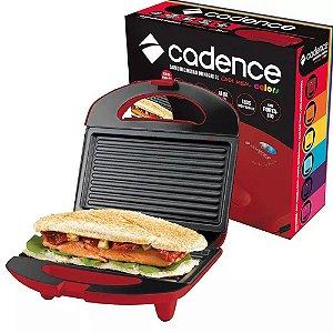Sanduicheira Mini Grill Cadence 750w Antiaderente Vermelha