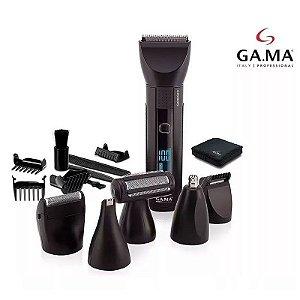 Aparador Barbeador Profissional Gama Italy LED LCD Titanium