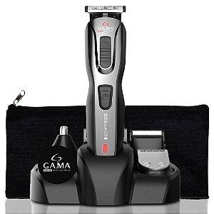 Máquina Cortador De Cabelo Aparador Barba E Pelos 9 Em 1 Gama Italy Multigroom + Necessaire