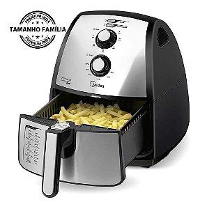 Fritadeira Sem Óleo Elétrica Midea Family Air Fryer Premium Inox 4 Litros