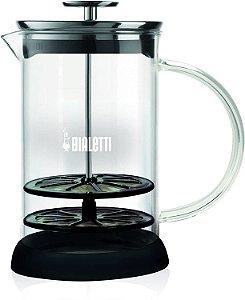 Cremeira Bialetti Cappuccinatore de Vidro 1 Litro Batedor Inox Creme Capuccino 15 anos Garantia