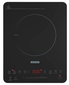 Cooktop Elétrico Portátil Indução Vitrocerâmico Slim Painel Digital 1 Boca Tramontina