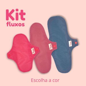 Kit 3 Absorventes de pano - Fluxos