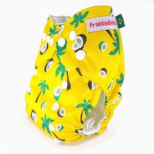 Fralda ecológica - Amarelo - Coco