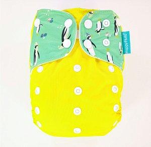 Fralda + Absorvente - Pinguim - tema 2 - Happyflute