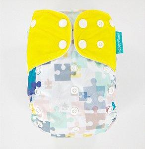 Fralda + Absorvente - Pinguim - tema 3 - Happyflute