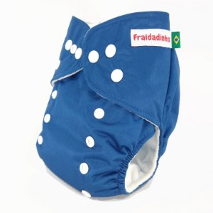 Fralda ecológica - Lisa - Azul BIC