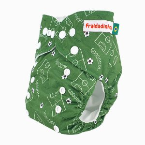 Fralda ecológica - Verde - Futebol