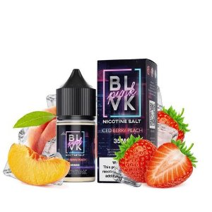 Salt - BLVK - Pink Iced Berry Peach - 30ml