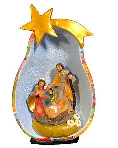Presépio Sagrada Família na Cabaça - Decoração Natal