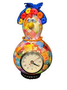 Relógio de Mesa Galinha Cabaça Bobs - Decoração Cozinha