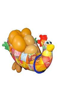 Galinha Porta Ovos em Cabaça - Decoração Cozinha
