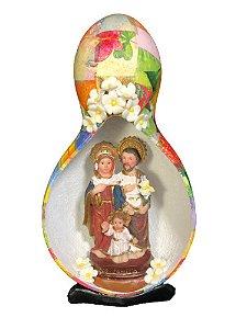 Sagrada Família no Oratório em Cabaça - Decoração Fé
