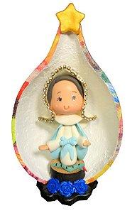 Nossa Senhora das Graças em Biscuit no Oratório em Cabaça