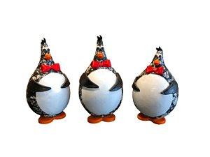 Trio Pinguins em Cabaça - Decoração Cozinha