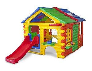Casinha de Brinquedo e Boneca Infantil Freso Gran Chalé