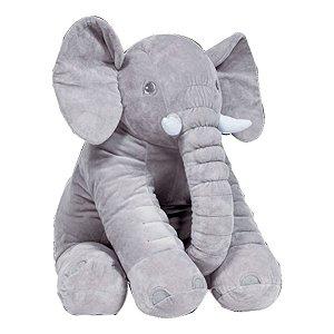 Almofada Bebe Elefante Gigante Cinza Buba
